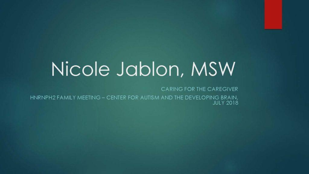 Nicole Jablon, MSW
